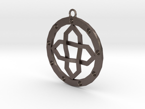 Pendant universe in Polished Bronzed Silver Steel