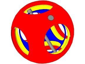 Giroscope ball in Smooth Fine Detail Plastic