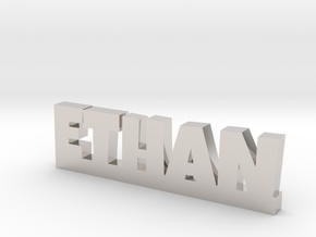 ETHAN Lucky in Rhodium Plated Brass