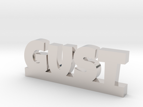 GUST Lucky in Rhodium Plated Brass