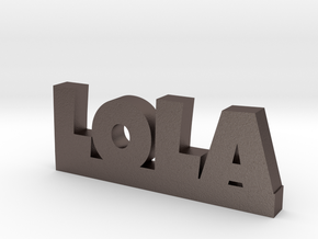LOLA Lucky in Polished Bronzed Silver Steel