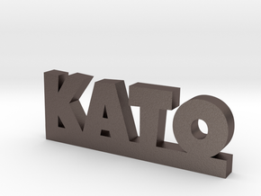 KATO Lucky in Polished Bronzed Silver Steel