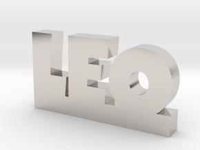 LEO Lucky in Rhodium Plated Brass