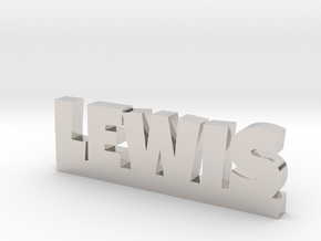 LEWIS Lucky in Rhodium Plated Brass