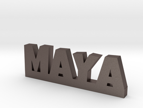 MAYA Lucky in Polished Bronzed Silver Steel