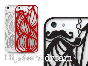 Hipster's Dream - case for iPhone 5/5s in Black Strong & Flexible
