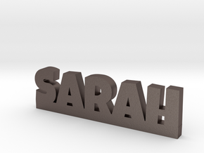 SARAH Lucky in Polished Bronzed Silver Steel