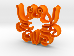 Cookie cutter - Flying Spaghetti Monster in Orange Strong & Flexible Polished