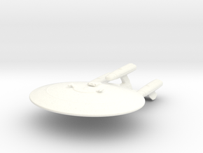 Galaxy Class Refit 1/7000 in White Strong & Flexible Polished