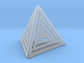 Tetrahedron Lattice in Smooth Fine Detail Plastic