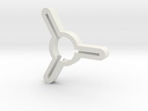 Handspinner in White Natural Versatile Plastic