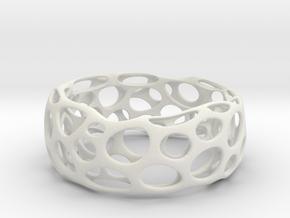Convex Bracelet  in White Natural Versatile Plastic
