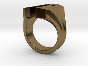 """A Nation's Battle"" Ring in Polished Bronze: 3 / 44"