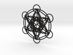 Metatron's Cube Pendant in Black Natural Versatile Plastic