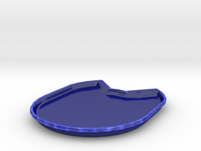 Kitty Plate in Gloss Cobalt Blue Porcelain
