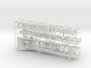1/50th 80 foot Folding boom Conveyor in White Natural Versatile Plastic