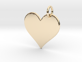 Creator Pendant in 14k Gold Plated Brass: Large