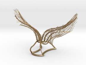 Original Angel Wings in Polished Gold Steel