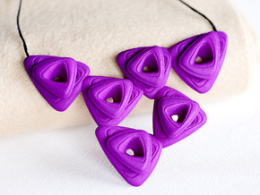 Rose Necklace in Purple Processed Versatile Plastic