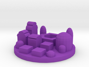 Game Piece, City Spaceport in Purple Processed Versatile Plastic