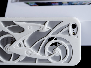 Innovative Bicycle iPhone5/5s Case in White Strong & Flexible Polished