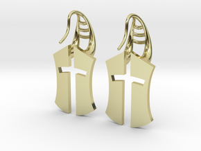 """Nation's Battle"" full Earrings in 18k Gold Plated"