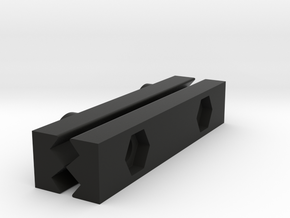 Rail To Rail Adapter 55mm in Black Strong & Flexible