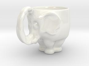 Elephant Mug in Gloss White Porcelain