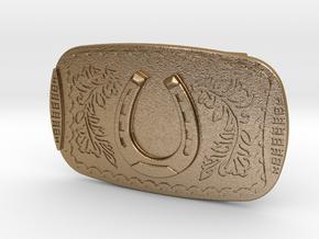 Belt Buckle Nathan Drake (Uncharted 3) in Polished Gold Steel