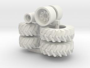 Chopper Wheels in White Natural Versatile Plastic