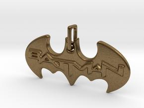 Bat Man Pendant in Interlocking Raw Bronze