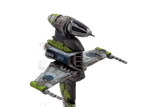 B-wing-E2 Cockpit 4pack in Smoothest Fine Detail Plastic