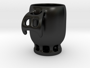 Coffee Cup in Matte Black Porcelain