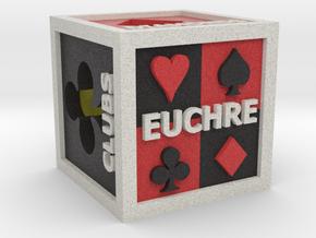 Euchre Dice (Hollow) in Full Color Sandstone
