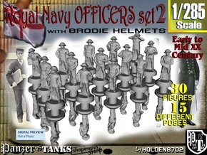 1-285 Generic Royal Navy Officers Set 2 in Smoothest Fine Detail Plastic