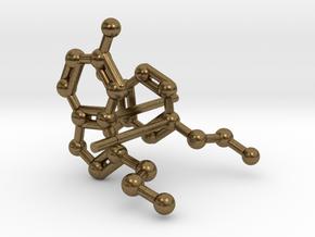Serotonin & Dopamine Earrings in Natural Bronze
