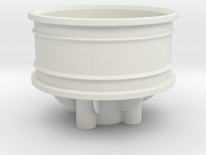 BSR - 1-10 Rear Rubber in White Natural Versatile Plastic
