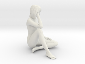 1/12 Race Queen Sitting Pose in White Strong & Flexible