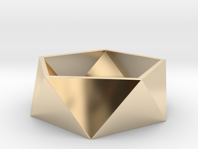 Geometric Ring in 14k Gold Plated Brass