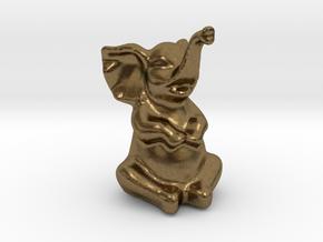 Happy Elephant in Natural Bronze