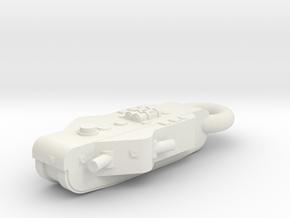 GrossKampfWagen (KolossalWagen) KEYCHAIN in White Natural Versatile Plastic