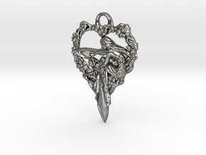 Maiden-of-the-heart-pendant-valentines-comp-entry- in Fine Detail Polished Silver