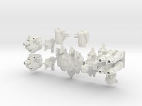 1/350 Terran Thor (Articulated) in White Natural Versatile Plastic