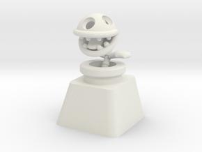Bone Piranha Plant Cherry MX Keycap in White Natural Versatile Plastic