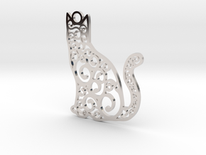 CatArt in Rhodium Plated Brass