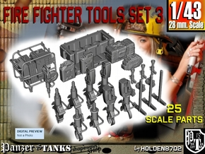 1-43 Firemen Tools Set 3 in Smooth Fine Detail Plastic