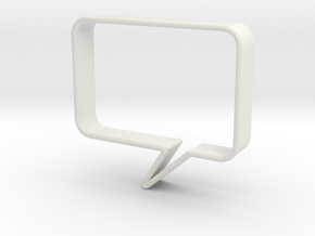 Speech Bubble Cookie Cutter1 in White Strong & Flexible