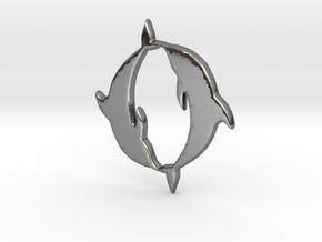 Dolphin Pendant in Premium Silver