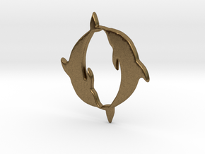 Dolphin Pendant in Natural Bronze