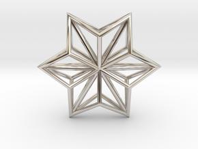 Origami STAR Structure, Pendant.  in Platinum